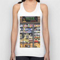 pasta Tank Tops featuring Pasta Land by Teddy Kang's Art