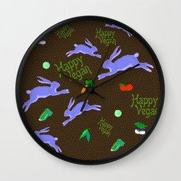 Vegans Eat Rabbit Food Wall Clock