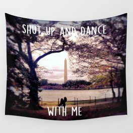 Monument Kisses Wall Tapestry