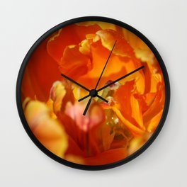 Parrot Tulip by Mandy Ramsey Wall Clock