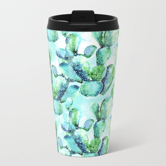 Cactus Tropicana Metal Travel Mug