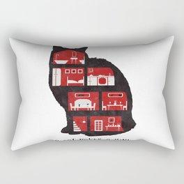 A cat makes a home Rectangular Pillow