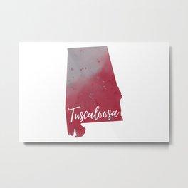 Tuscaloosa Alabama Watercolor Print Metal Print