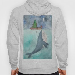 When a whale likes Christmas Hoody