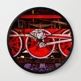 Vintage Steam Train Wheels Wall Clock
