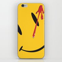 watchmen iPhone & iPod Skins featuring Who watches the watchmen?  by Vickn