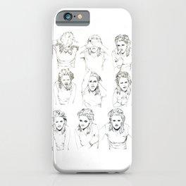 Kristen Stewart Sketches iPhone Case