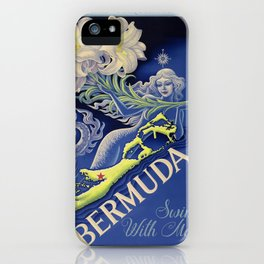 Vintage Mermaid Bermuda iPhone Case