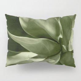 Green Agave Plant Pillow Sham