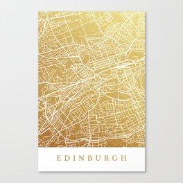 Gold Edinburgh map Canvas Print