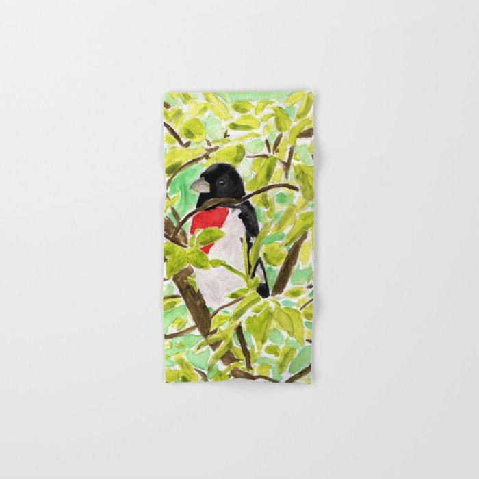 Watercolor Bird Hand & Bath Towel