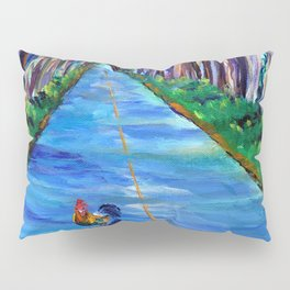 Tree Tunnel with Rooster Pillow Sham