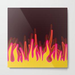 Burn Fire Metal Print