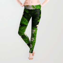 deep in the rainforest of leaves is rare liana flowers Leggings