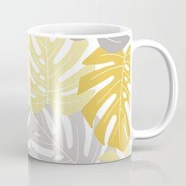 Yellow monstera deliciosa leaves Coffee Mug