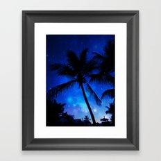 Cosmic Palms Framed Art Print