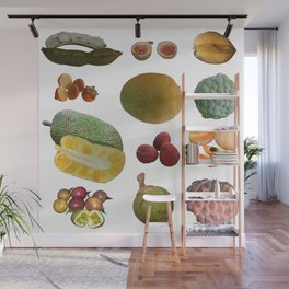 Exotic Fruit Collage Wall Mural