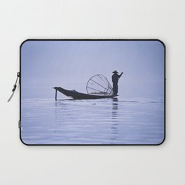 FISHERMAN AT INLE LAKE II Laptop Sleeve