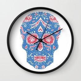 Hand draw skull Wall Clock