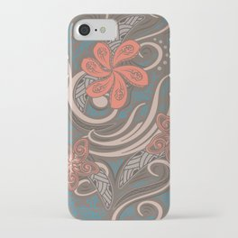 Polynesian Coral Tribal Theads iPhone Case