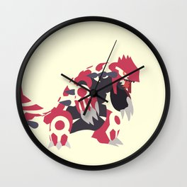 Primal Groudon Wall Clock