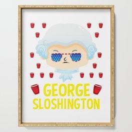 george sloshington washington 4th of july Serving Tray