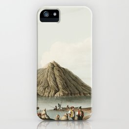 Island of Stromboli from Views in the Ottoman Dominions, in Europe, in Asia, and some of the Mediter iPhone Case