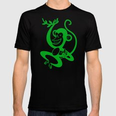 Green Monkey Mens Fitted Tee LARGE Black
