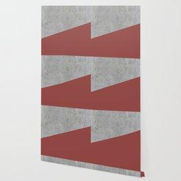 Concrete with Chili Oil Color Wallpaper