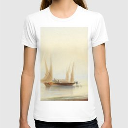 Ivan Aivazovsky - Barge at Sea Shore T-shirt