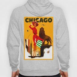 Vintage Chicago Illinois Travel Hoody