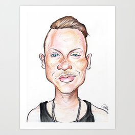 Macklemore Caricature Art Print