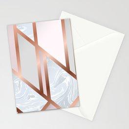 White Pastel Art Deco Stationery Cards