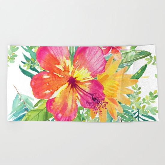 Floral paradise Beach Towel