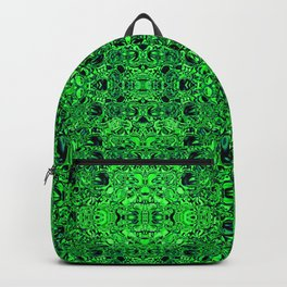 Green sparkling glass mosaic Backpack