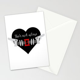 She's Not Alone Superhero Quote Stationery Cards