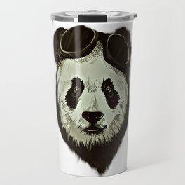 Panda Bear in Hipster Style Travel Mug