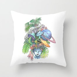 Out of this World Throw Pillow
