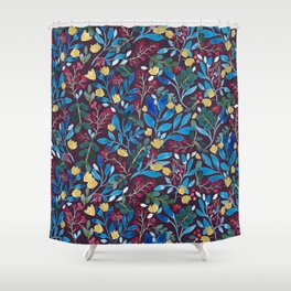 Fall Flavors Violet Shower Curtain