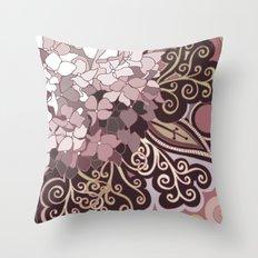 Hortensia autumn Throw Pillow