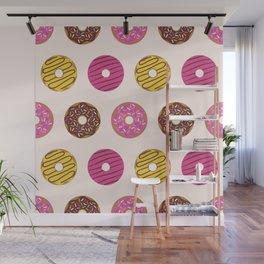 Sweet Donuts Pattern Wall Mural