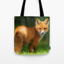 Fox Painting Tote Bag
