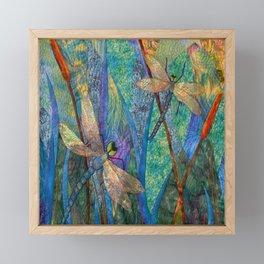 Colorful Dragonflies Framed Mini Art Print