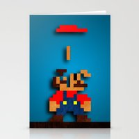 tetris Stationery Cards featuring Mario Tetris by Darthdaloon