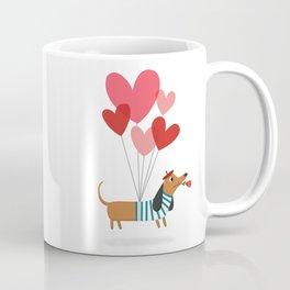 Dachshund Puppy Love Coffee Mug