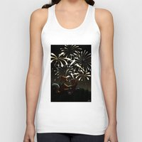 fireworks Tank Tops featuring Fireworks! by Pencil Box Illustration