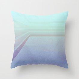 Horizontal flight (Blue edition) Throw Pillow