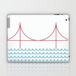 Stamp series - Golden gate Laptop & iPad Skin