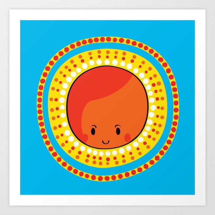 Sun Art Print