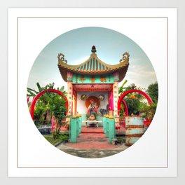 Female Buddha #2 (Circle) Art Print